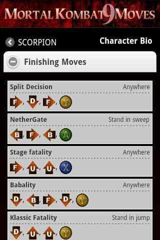 Mortal Kombat 9 Moves APK - Download Mortal Kombat 9 Moves 2 0 1 APK
